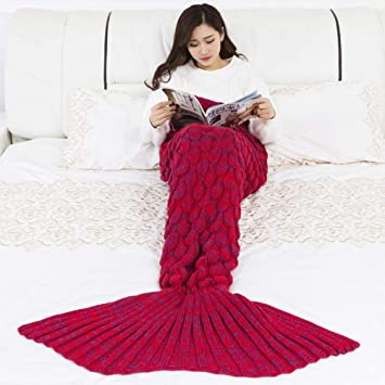 Oyamihin Mermaid Manta Hecho a Mano de Punto Sleeping Wrap ...