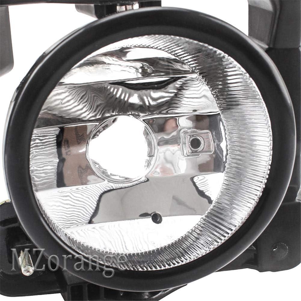 MZORANGE Fog Light For Honda Acura TSX 2009 2010 Clear Len Front Driving Fog Lamp