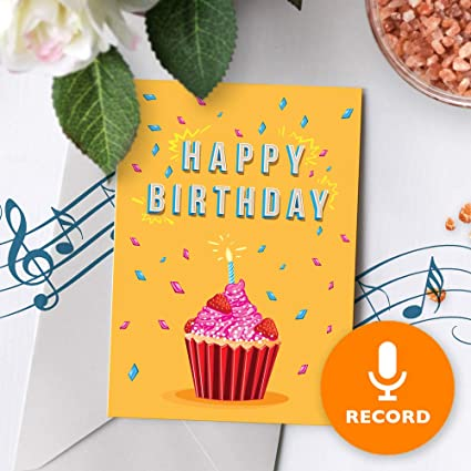 Amazon Cupcake Birthday Card With Music Birthday Greeting