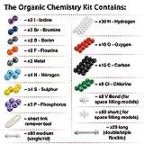 Organic Chemistry Class Molecular Model Kit 240Pcs - Sumnacon Inorganic Biochemistry Molecular Model Kit for Student,Teachers Biochemist Toxicologists Study, 86 Atoms + 153 Bonds + 1 Bond Remover