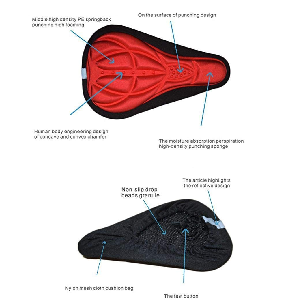 Amazon.com: Bifast Funda de asiento de bicicleta 3D, esponja ...