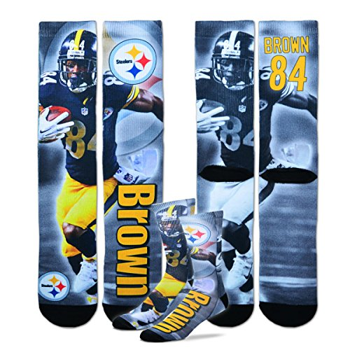 Pittsburgh Steelers NFL Drive Player Profile Socks Size Medium 5-10 - Antonio Brown