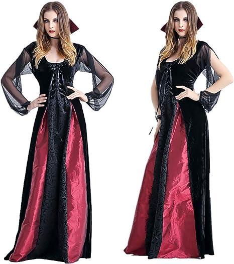 CWZJ Mujer Vampiro Victoriano Vampiro Largo Halloween Vampiro ...