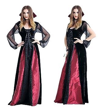 CWZJ Mujer Vampiro Victoriano Vampiro Largo Halloween ...