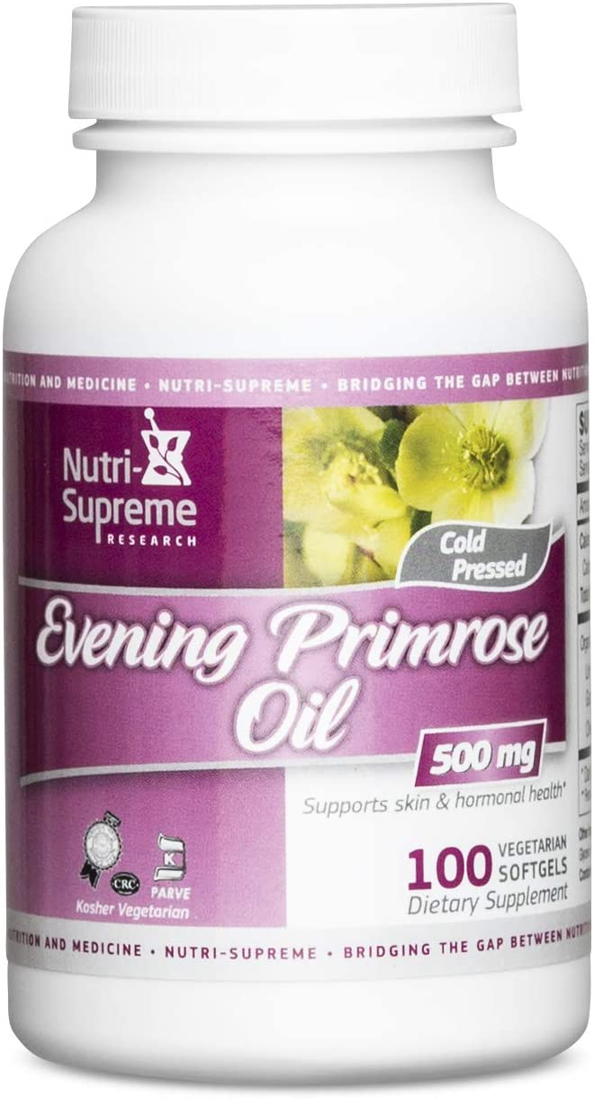 Evening Primrose Oil 500 Mg 100 Vegetarian Softgel