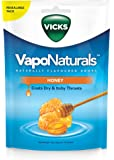 Vicks VapoNaturals Naturally Flavoured Cough Lozenges Honey 19s Resealable Bag