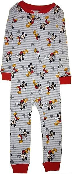 Disney Pijama de Mickey Mouse de algodón sin pies para niños - Blanco - 24 Meses: Amazon.es: Ropa y accesorios