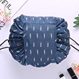 Purple Crane convenient and waterproof multifunction portable lazy travel cosmetic storage bag/cosmetic pouch/toiletry bag/makeup bag with drawstrings - large capacity and trendy print design