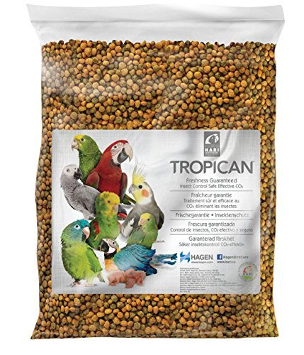 Tropican Parrot Food Granules, Formula for Completely Balanced and Flavorful Maintenance Diet, 20 lb Bag -