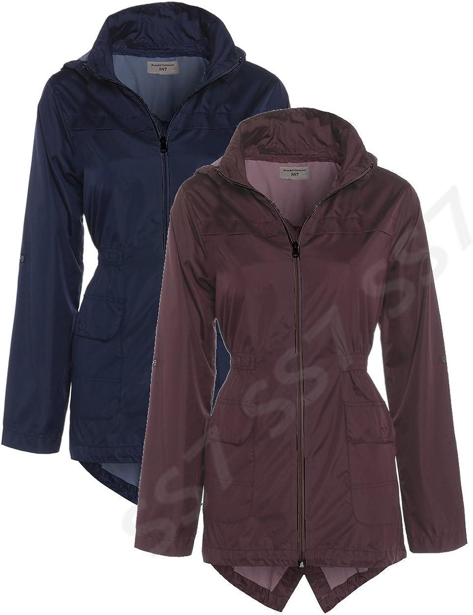 Ages 7-13 Shower Jacket Girls Parka Coat