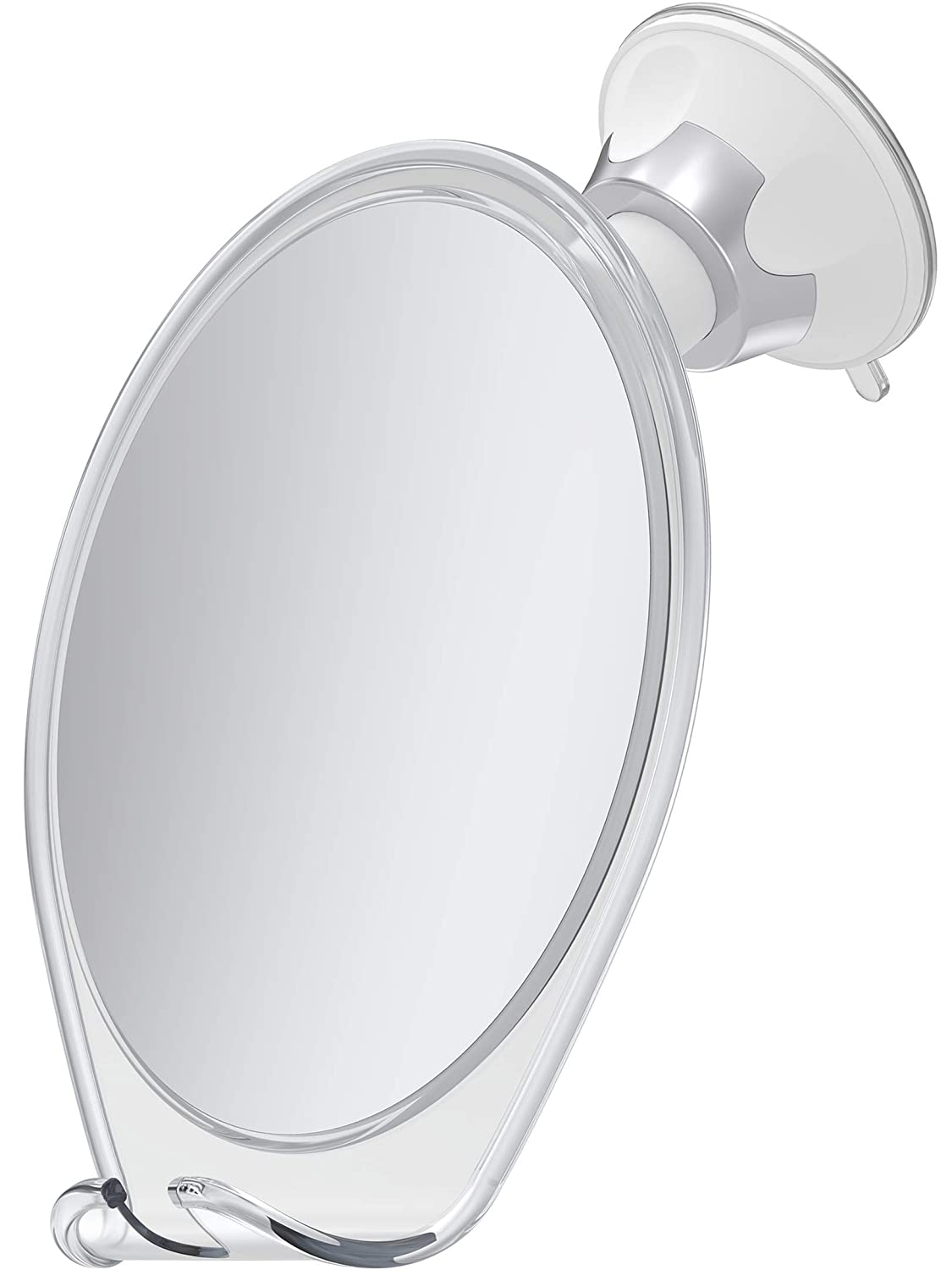 HoneyBull Fogless Shower Mirror for Shaving | Shatterproof with Suction, Swivel & Razor Hook