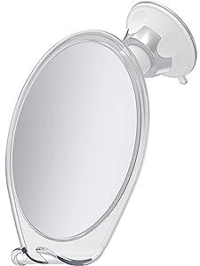 HoneyBull Fogless Shower Mirror for Shaving | Shatterproof with Suction, Swivel & Razor Hook