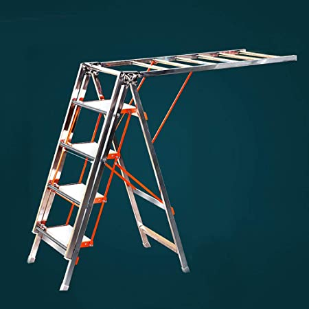 ZhuFengshop Tendedero de lavandería Escalera de Secado Plegable, Escalera con Pedales de Cuatro Pasos, Bastidor de Secado Multifuncional - Acero Inoxidable Secadora de Ropa, lavadero, balcón.: Amazon.es: Hogar