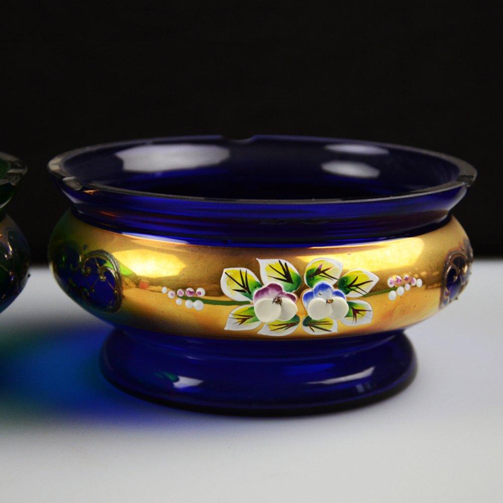 Wangs European vintage crystal glass ashtray fashion home decorative ashtray-A