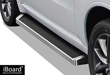 Running Board Style Side Step 6in Black Fit Ford Explorer 4-Door 06-10