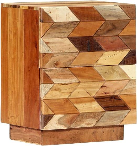 vidaXL Solid Teak Bedside Cabinet 40x30x50cm Bedroom Nightstand Table Unit