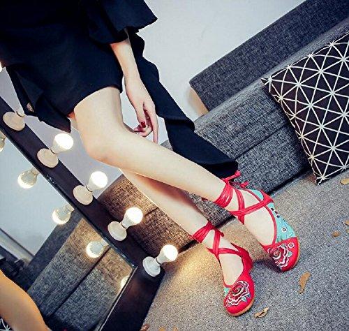 Cordones Para Mujer Verde De Lazutom Lona Zapatos Hnq0IEwx6