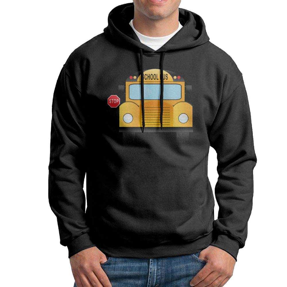 Hooded Hoodies Long Sleeve Hoodie Pullover School-Bus for Mens