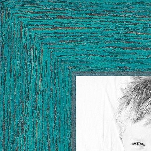 ArtToFrames Turqoise Barnwood Picture WOM0066 1343 YAQU 8x10