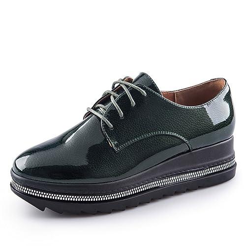 Zapatos De Otoño/Miss Zapatos/Zapatos De Cabeza Redonda De Color Puro: Amazon.es: Zapatos y complementos