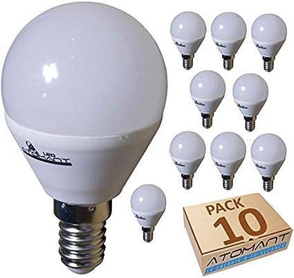 Led Atomant Lampadina Led G45 7 W Bianco Neutro 4500 K 650 Lumen Attacco Sottile E14 Equivalente 75 W Tradizionale Confezione Da 10 Amazon It Illuminazione