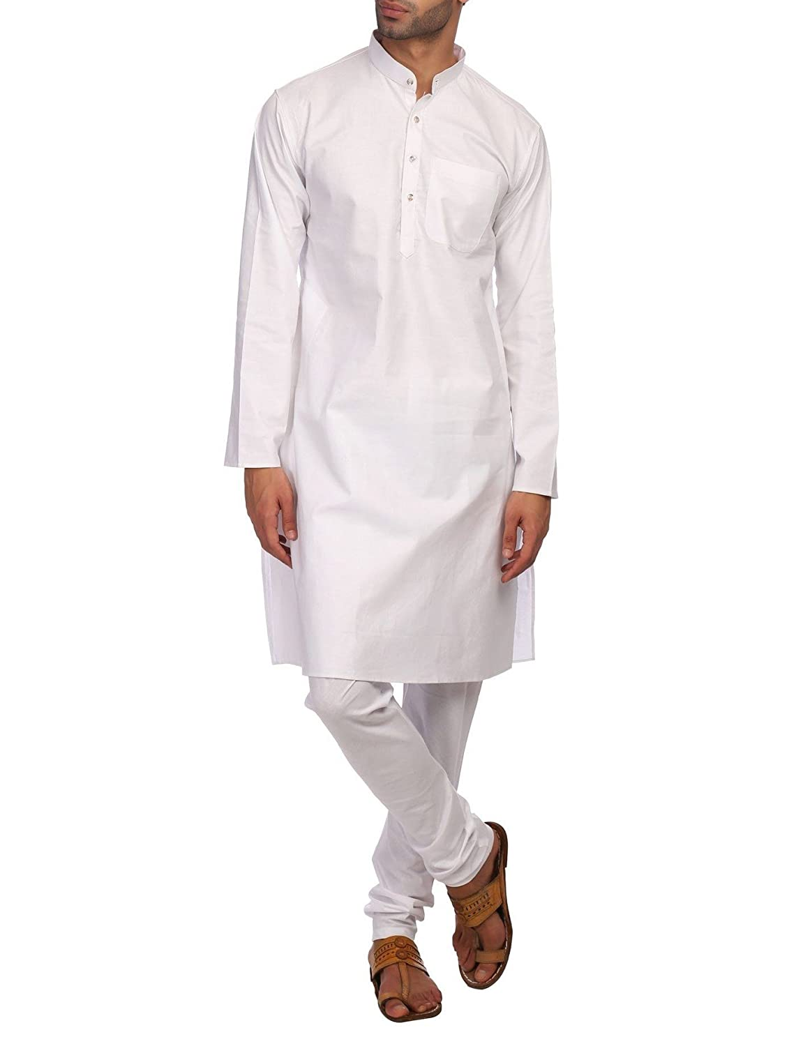 WINTAGE Männer 100% Baumwolle Khadi Tailored Fit Party/Festliche Indische Kurta Pyjama Pyjama Schlaf-Sets kp024