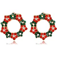 SimpleLife Christmas Earring Stud- Set de aretes con Forma de Oreja de Navidad para Adolescentes Chicas, niños, Mujeres Pendientes Festivos, Conjunto de Joyas, Regalo de Fiesta