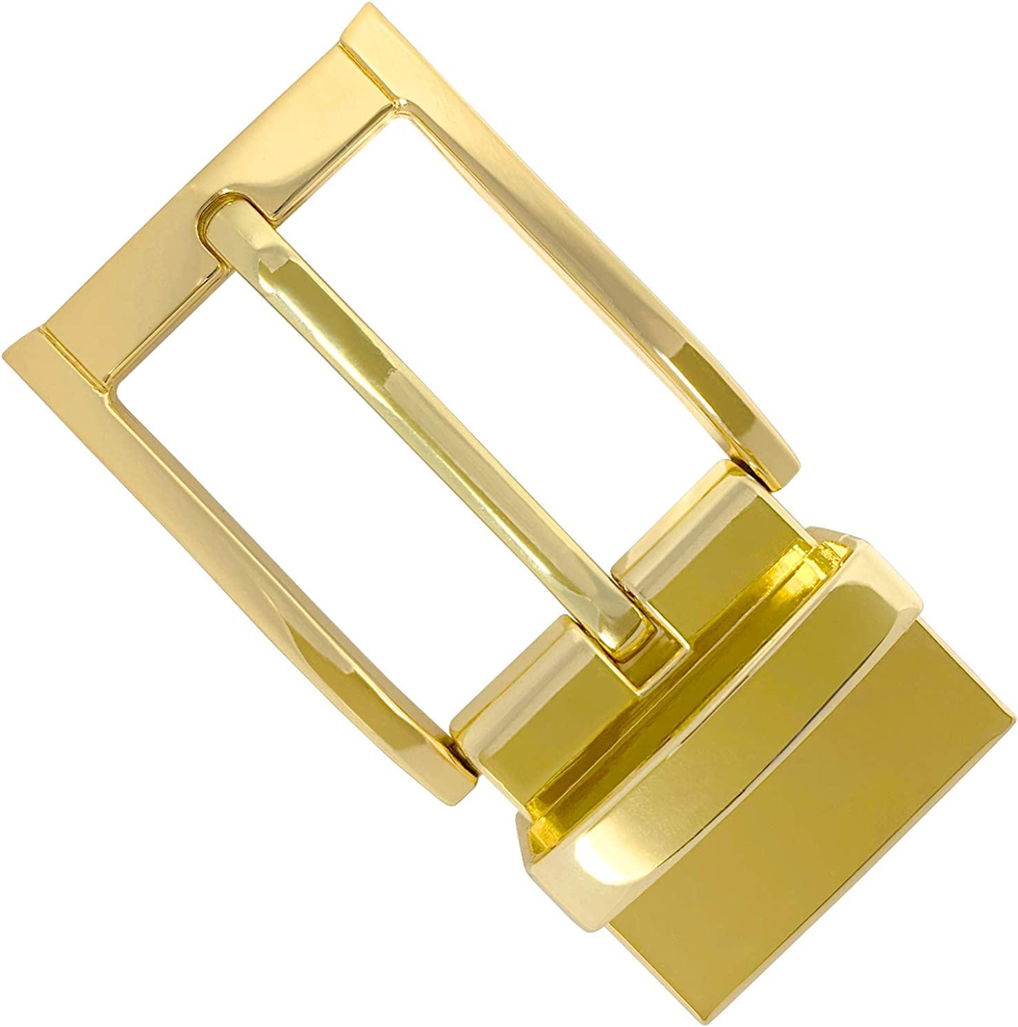 Polished Brass Belt Buckle Solid for 1.5 inch Wide Belt Replacement Supplies US
