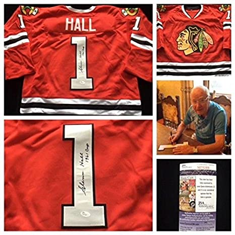 Image Unavailable. Image not available for. Color  Glenn Hall Autographed  Jersey - Chicago Blackhawks ... 8e11bc423
