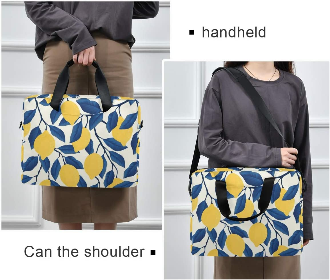 Laptop Bag Lemon Shoulder Messenger Laptop Case Sleeve Tropical Yellow Lemons Business Bag 14//15//15.6 Inch for Men Women