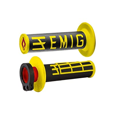 Odi Emig V2 Lock-On Grips - 2 & 4-Stroke (Black/Yellow): Automotive
