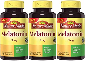 Image Unavailable. Image not available for. Color: Nature Made Melatonin 3 mg ...