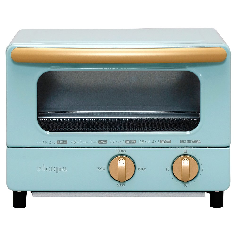 """IRIS OHYAMA Toaster Oven """"ricopa"""" EOT-R1001-AA (Ash Blue)【Japan Domestic genuine products】"""