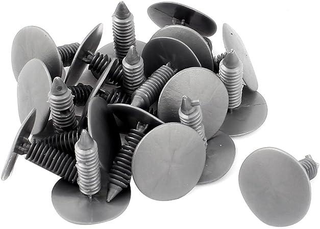 20 Stk Grau 25mm X 25mm Kunststoff Niete Kotfluegel Stossstange Befestigung Push Clips De Auto