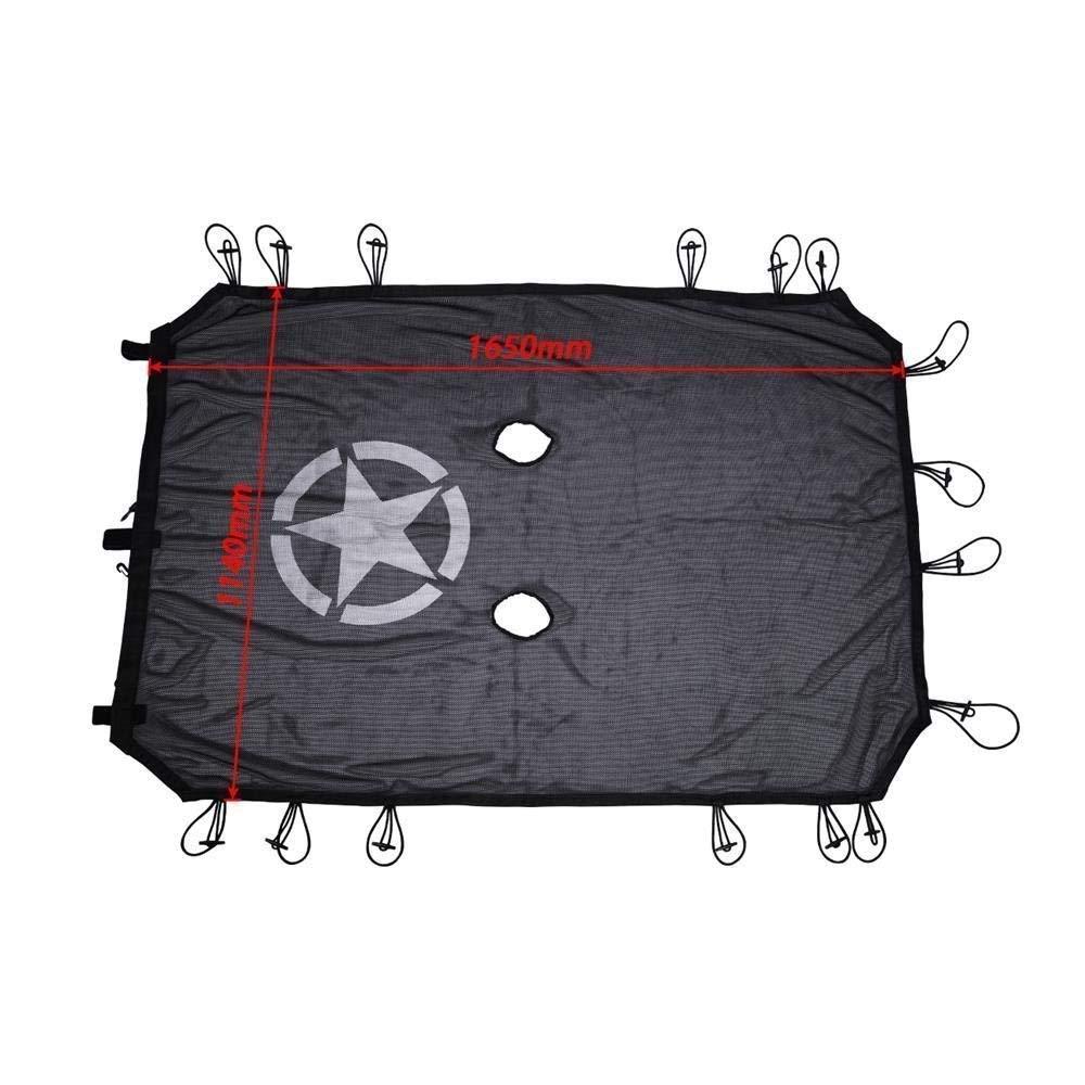 Parasol r/ígido de malla para bikini que proporciona protecci/ón UV estrellas de 4 puertas DQDZ