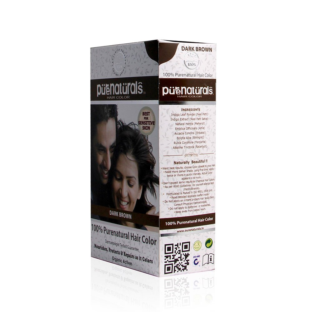 Buy 100 natural 100 organic dark brown hair colorderma buy 100 natural 100 organic dark brown hair colorderma recommended ppd ammonia free 120gm online at low prices in india amazon solutioingenieria Choice Image
