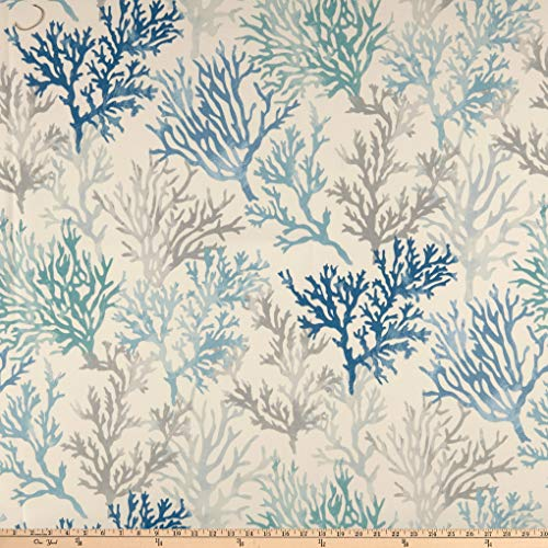 Indoor Outdoor Upholstery Fabric - Swavelle/Mill Creek Indoor/Outdoor Osage Fabric, Blue Fog, Fabric By The Yard