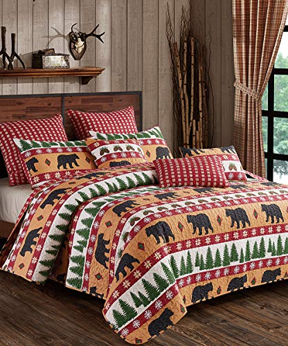 Virah Bella Winter Bear 3pc Full/Queen Size Quilt Pillow Shams Set