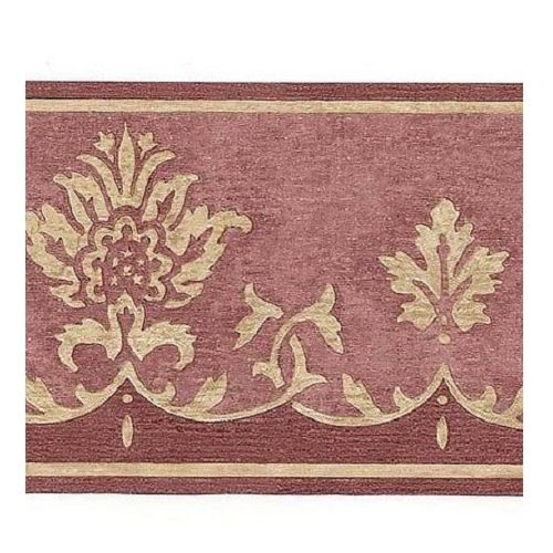 Wallquest AF20401 Red Tuscan Damask on Plaster Faux Wallpaper, Red