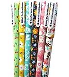 Cute Pens 0.38 mm Gel Pens Black Ink Pens Set for Bullet Journal Writing Toshine Black Ink Pens Gel Ink Roller Ball Fine Point Pens for Kids Girls Children Students Teens 6 Pcs (Garden)