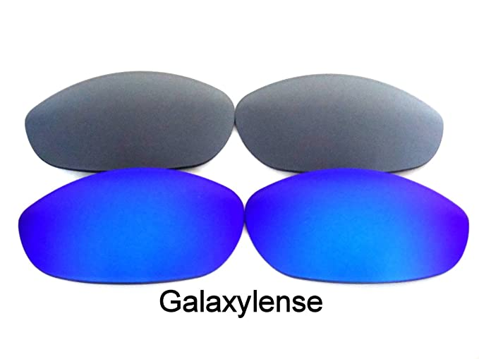 5a6f02a666 Amazon.com  Galaxylense Replacement Lenses for Oakley Monster Dog Blue Gray  Color 2 Pairs