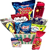 #10: Movie Night Popcorn and Candy Gift Basket Plus Free Redbox Movie Rental Code Gift Card - Includes Popcorn Bucket, Movie Theater Popcorn and Delicious Candy Snacks (My Heart Pops For You)