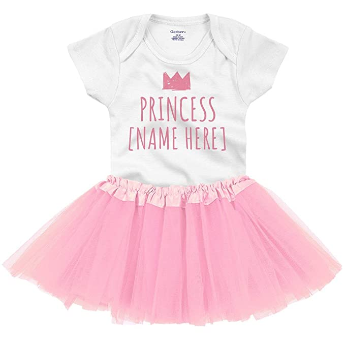 Personalized Name Princess Baby Girl Onesies /& Hat Baby Shower Gifts Set Newborn