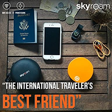 Skyroam Solis: Mobile WiFi Hotspot & Power Bank // Unlimited Data // Global  SIM-Free 4G LTE // Pay-as-You-go // Coverage in North America, South