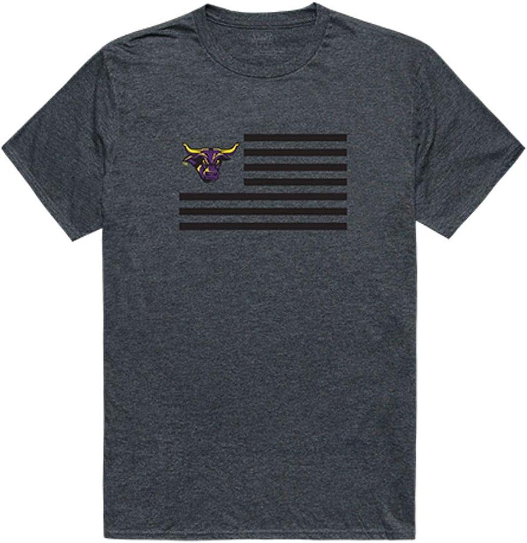 Minnesota State University Mankato Mavericks NCAA Logo USA Flag T-Shirt S-2XL