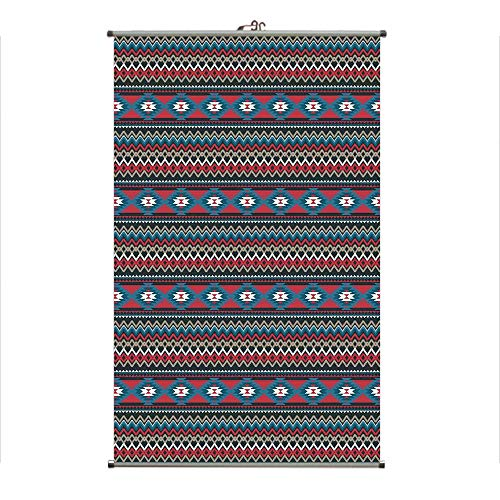 iPrint Wall Hanging Picture Wall Scroll Poster Fabric Painting,Aztec Folkloric Striped Design Antique Maya,3D Print Design Personality Customization Make Your Room unique23.6 X19.7 -