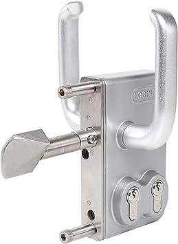 Locinox LGKZD1 - Cerradura de puerta corredera con cilindro doble (puerta corredera Hoftor 100 mm de ancho de marco): Amazon.es: Bricolaje y herramientas