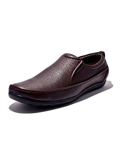 9950996452f Sir Corbett Men s Synthetic Brown Formal Slip On Shoes  Buy Online ...