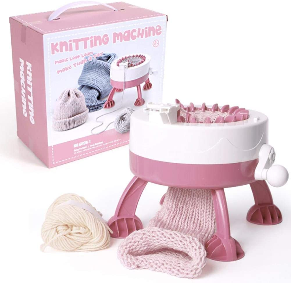 DIY Plastic Hand Knitting Board Rotating Double Knit Machine Children Weaving Toy Tool Accessories for Adults and Kids Hand Knitting Machine