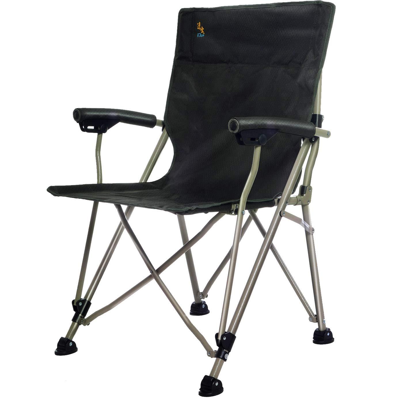 屋外折りたたみ椅子超軽量ポータブル釣り椅子シンプルなポータブル釣り椅子屋外チェア (色 : 黒) B07NP1N664 黒